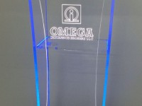 Acrylic Stand Front View With LED Lighting FA